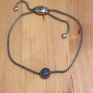 David Yurman Blue Sapphire Sterling Bracelet